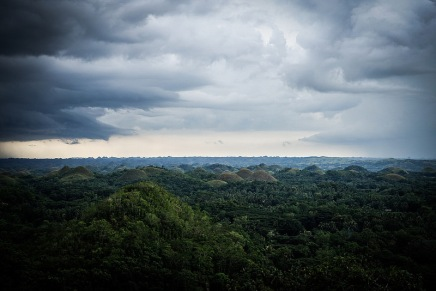 Lightning over the Chocolate Hills